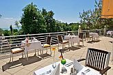 Terrace with panoramic view at Hotel Bál Resort Balatonalmadi with direct connection to Lake Balaton