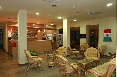 Hotel Zichy Park - hotel reception - 4-star hotel in Bikacs