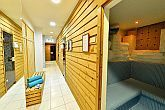 In the wellness section of Hotel Irottko in Kőszeg, Finnish and infra sauna awaits the hotel guests.